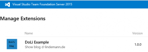 unter Manage Extensions